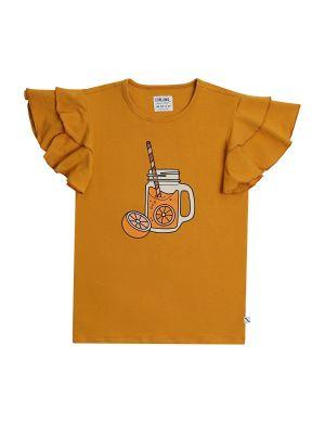 CarlijnQ Ruffled T-shirt Lemonade Print