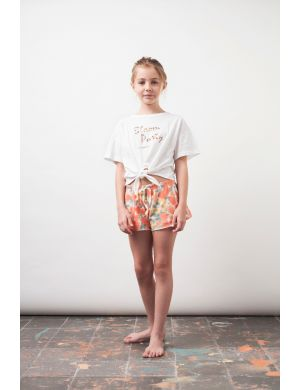 Tocoto Vintage Flower Girl Short