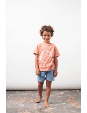 Tocoto Vintage T-shirt Tye Dye Salmon