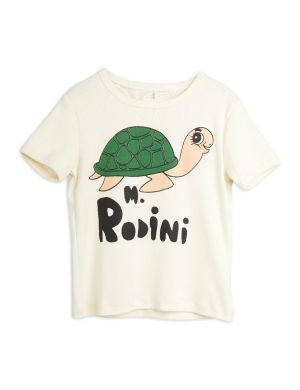 Mini Rodini Turtle sp SS Tee Offwhite