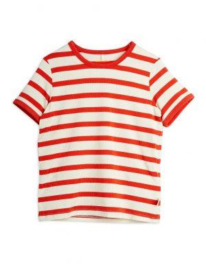Mini Rodini Stripe SS Tee Red