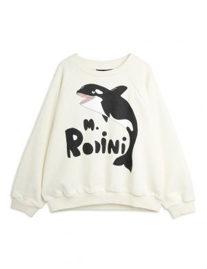 Mini Rodini Orca sp Sweatshirt White