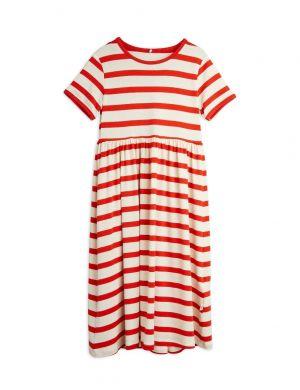 Mini Rodini Stripe SS Dress Red