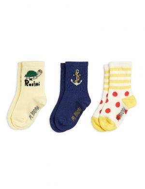 Mini Rodini Anchor 3-pack Socks