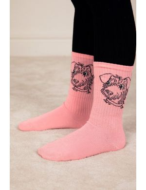 Mini Rodini Terrier Socks Pink