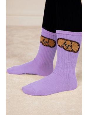 Mini Rodini Fluffy Dog Socks Purple