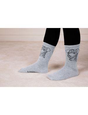 Mini Rodini Terrier Socks Grey Melange