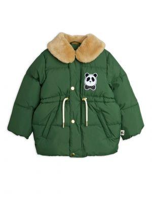 Mini Rodini Panda Puffer Jacket Green