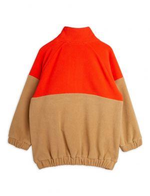 Mini Rodini Fleece Zip Pullover Red