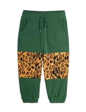 Mini Rodini Fleece Panel Trousers Green