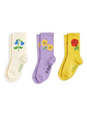 Mini Rodini Snow Flowers Socks 3-Pack