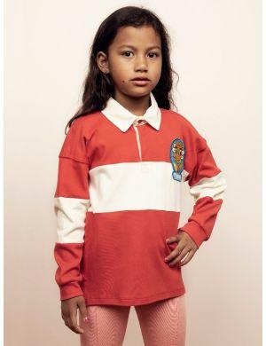 Mini Rodini Rugby Shirt Red