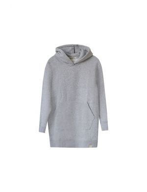 I Dig Denim Morgan Hoodie Dress Grey Melange