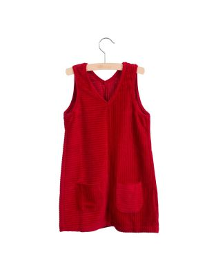Little Hedonist Pinafore Dress Nikki Tango Red