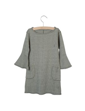 Little Hedonist Dress Nina Jacquard Beige