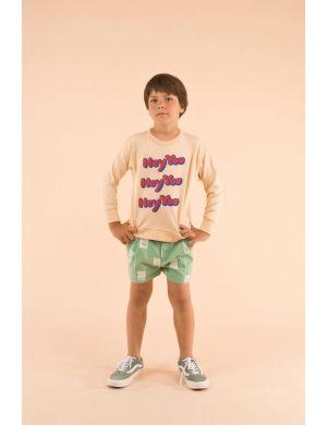 Tiny Cottons HEY YOU sweatshirt cream/red