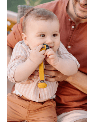 Grech and Co Pacifier Clips - Light Blue