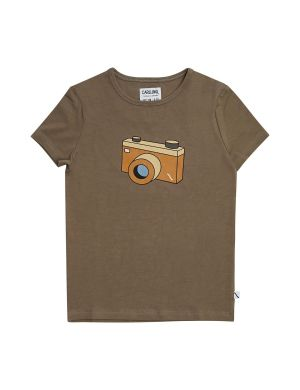 CarlijnQ T-shirt Photo Camera Brown