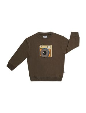 CarlijnQ Sweater Photo Camera Brown
