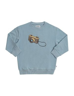 CarlijnQ Sweater Photo Camera Blue