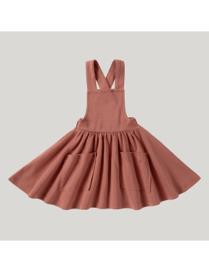 Susukoshi - Pinafore Dress Terracotta