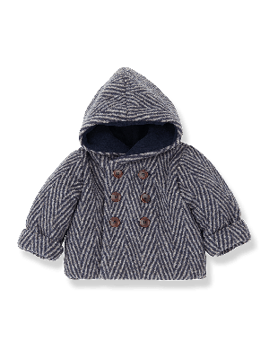 1+ in the family Pollino Hood Jacket Beige/Blue Notte