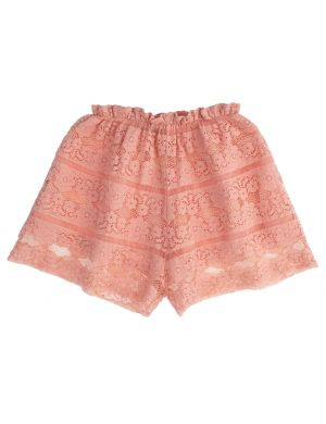 Tocoto Vintage Girly Short Embroidery Pink