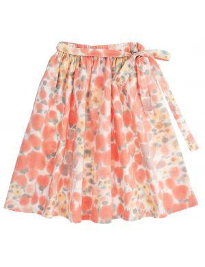 Tocoto Vintage Flower Printed Midi Skirt Pink