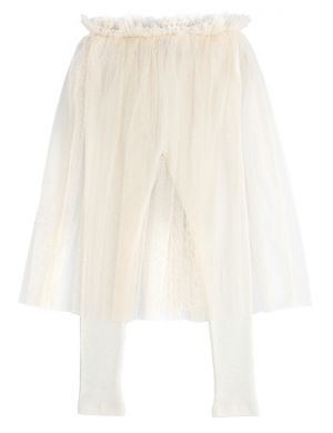 Tocoto Vintage Tulle + Robs Skirt Offwhite