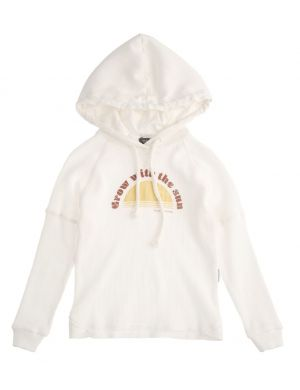 Tocoto Vintage Hoody Grow With The Sun White