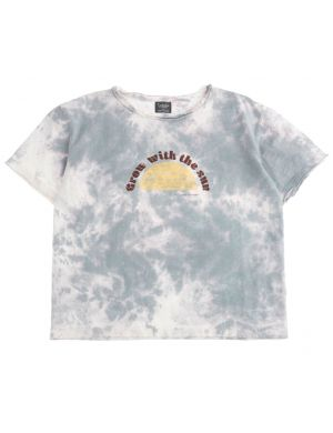 Tocoto Vintage T-shirt Grow In the Sun Grey Tie Dye