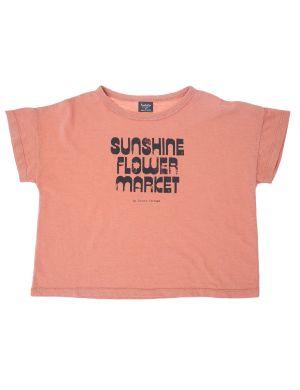 Tocoto Vintage Sunshine Flower Market Shirt Pink
