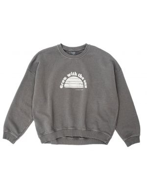 Tocoto Vintage Organic Fleece Sweatshirt Sun Brown