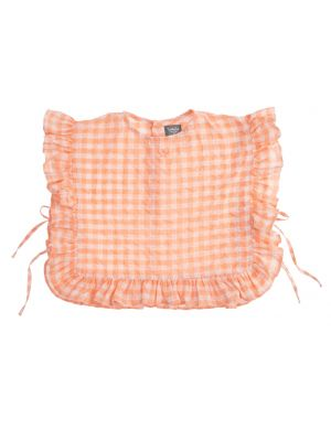 Tocoto Vintage Checkered Kid Blouse Pink