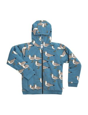 CarlijnQ Bomber with Hoodie Seagull Blue