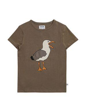 CarlijnQ T-shirt Seagull Brown