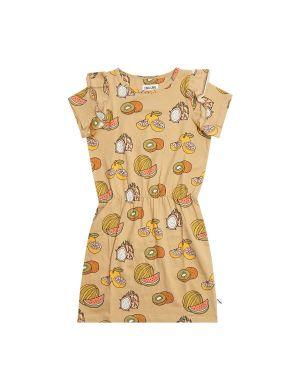 CarlijnQ Ruffled Dress Summer Fruit