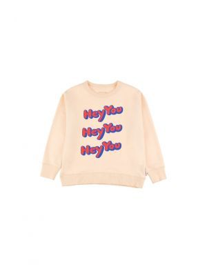 Tiny Cottons HEY YOU sweatshirt cream/red
