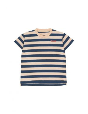 Tiny Cottons Stripes Tee cappuccino/light navy