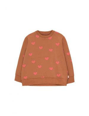 Tiny Cottons Hearts Sweatshirt cinnamon/light Red