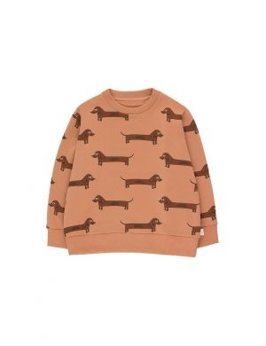 Tiny Cottons Il Bassotto Sweatshirt tan/dark brown