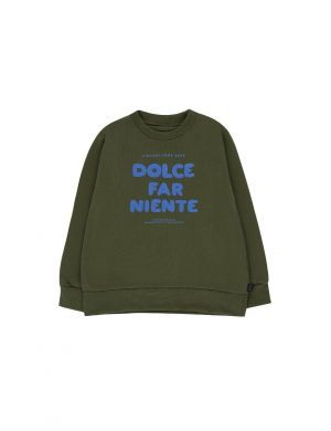 Tiny Cottons Dolce Far Niente Sweatshirt olive/cerulean blue