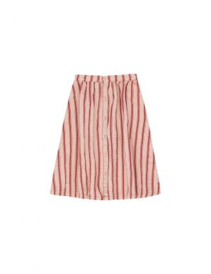 Tiny Cottons Retro Stripes Midi Skirt light nude/dark brown