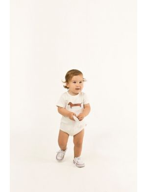 Tiny Cottons Otto Il Bassotto Body off-white/cinnamon