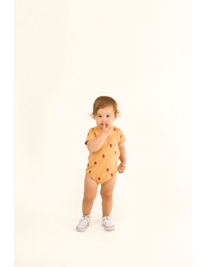 Tiny Cottons Strawberry Romper toffee/red