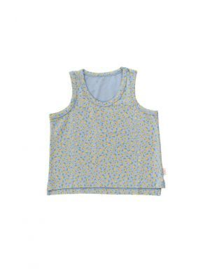 Tiny Cottons Small Flowers Tank Top Summer Grey/Honey