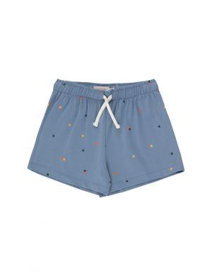 Tiny Cottons Ice Cream Dots Short Grey Blue