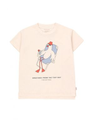 Tiny Cottons Bird Graphic Tee Light Cream/Summer Grey