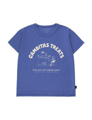 Tiny Cottons Gambitas Treats Tee Iris Blue/Light Cream