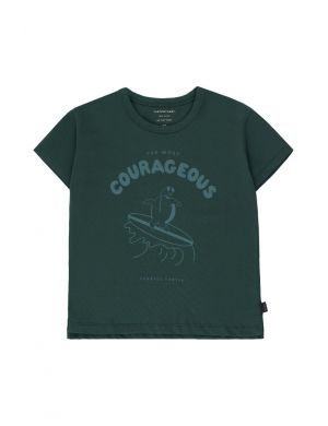 Tiny Cottons Courageous Tee Ink Blue/Dark Teal